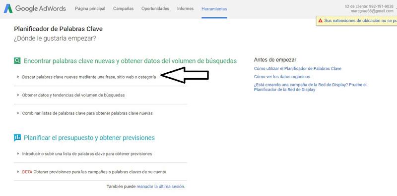 planfificador-palabras-clave-Google